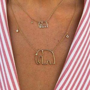 Elephant gold necklace